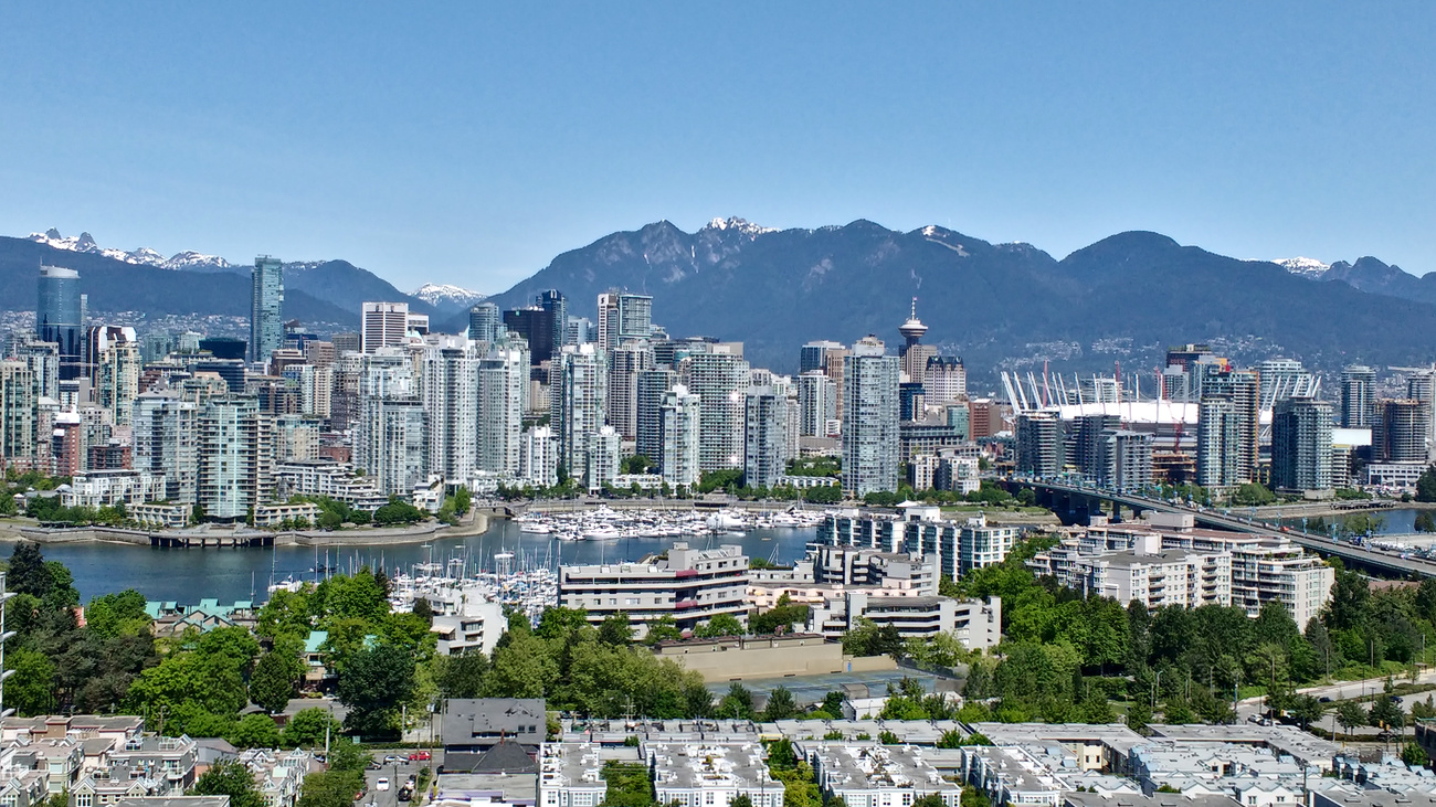 Downtown Vancouver as seen from BC cancer research centre.