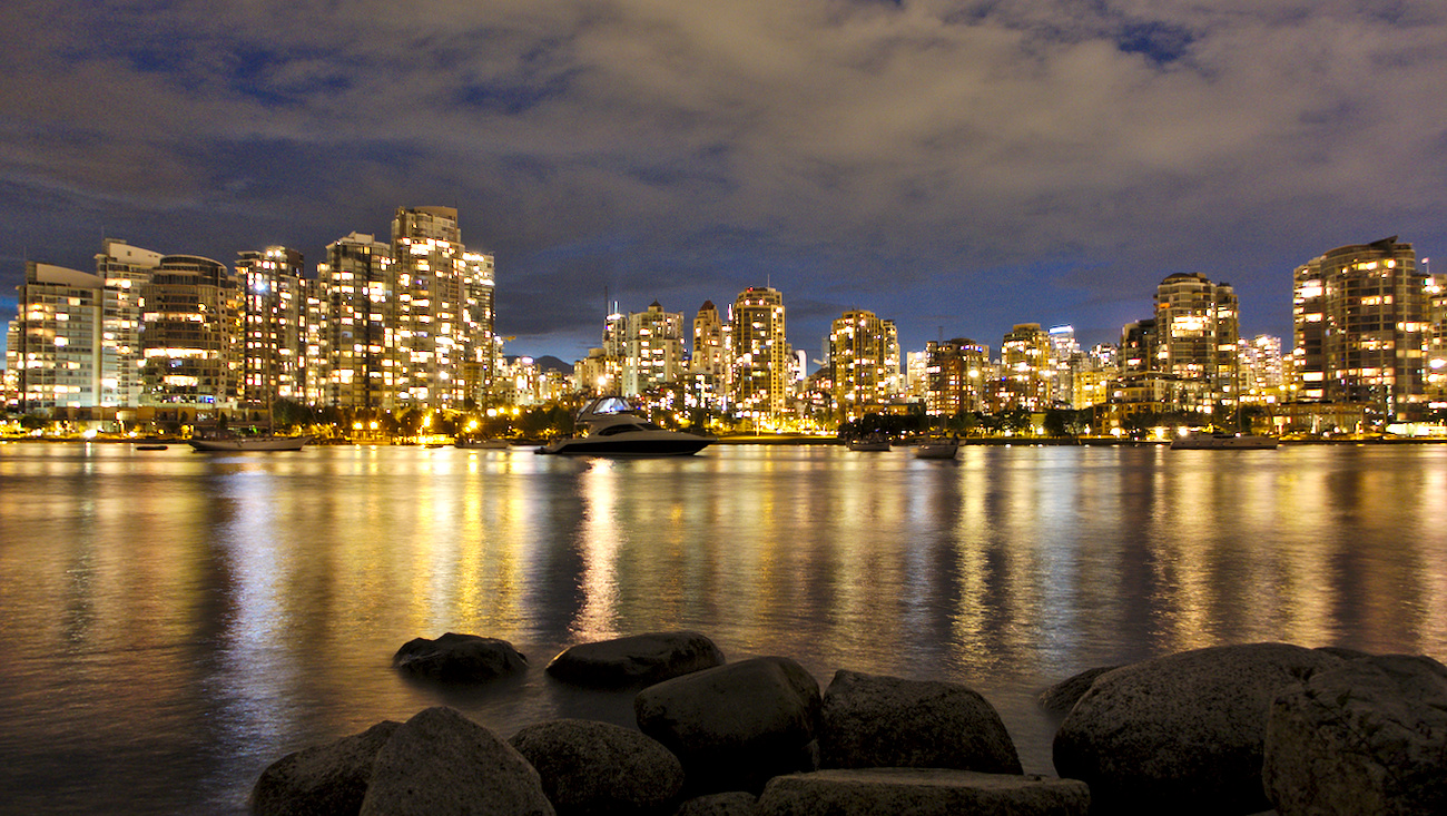 Downtown as viewed from False Creek, Vancouver, Canada.