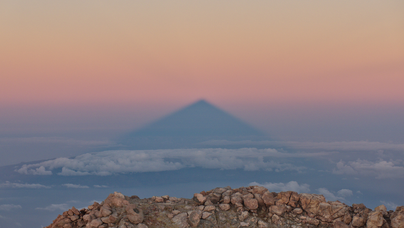 Shadow of Mount Teide at sunrise, 3718 MAMSL, Tenerife.