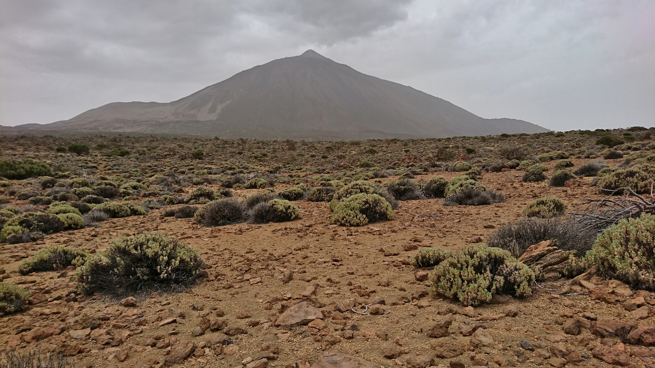 Mount Teide during a cloudy day, Tenerife.